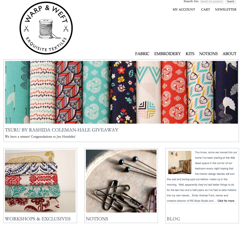 Warp and Weft, a great new Canadian online fabric and notions shop